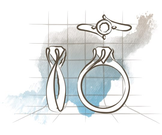 custom engagement ring design process
