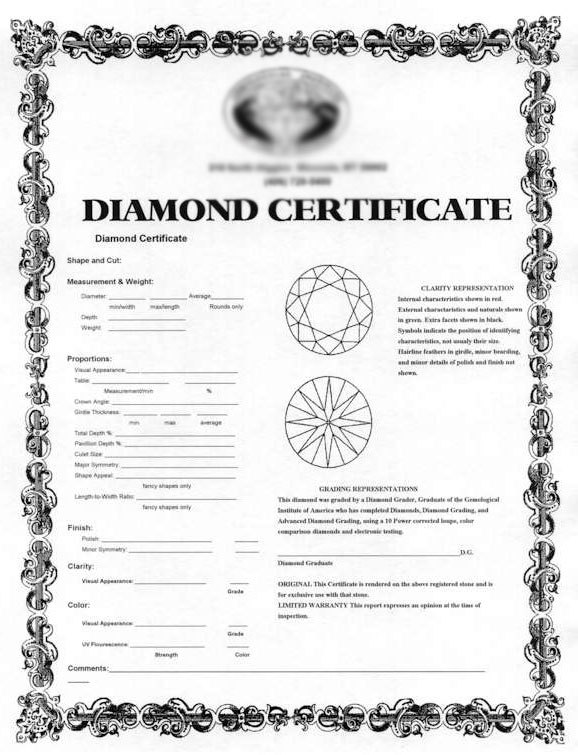 diamond-certificate